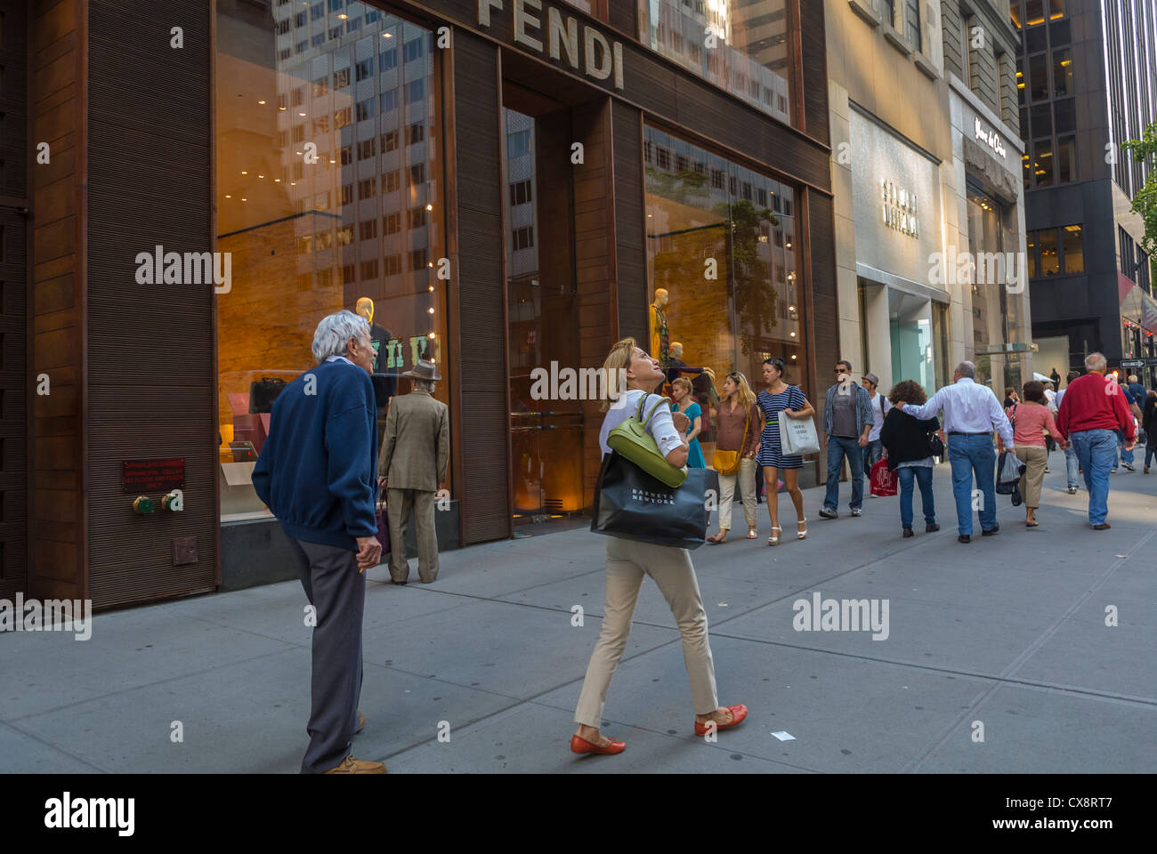 New York, NY, USA, People Shopping, Street Scenes, Luxury Shops, Fendi,  on Fifth Avenue, Manhattan , - Stock Image