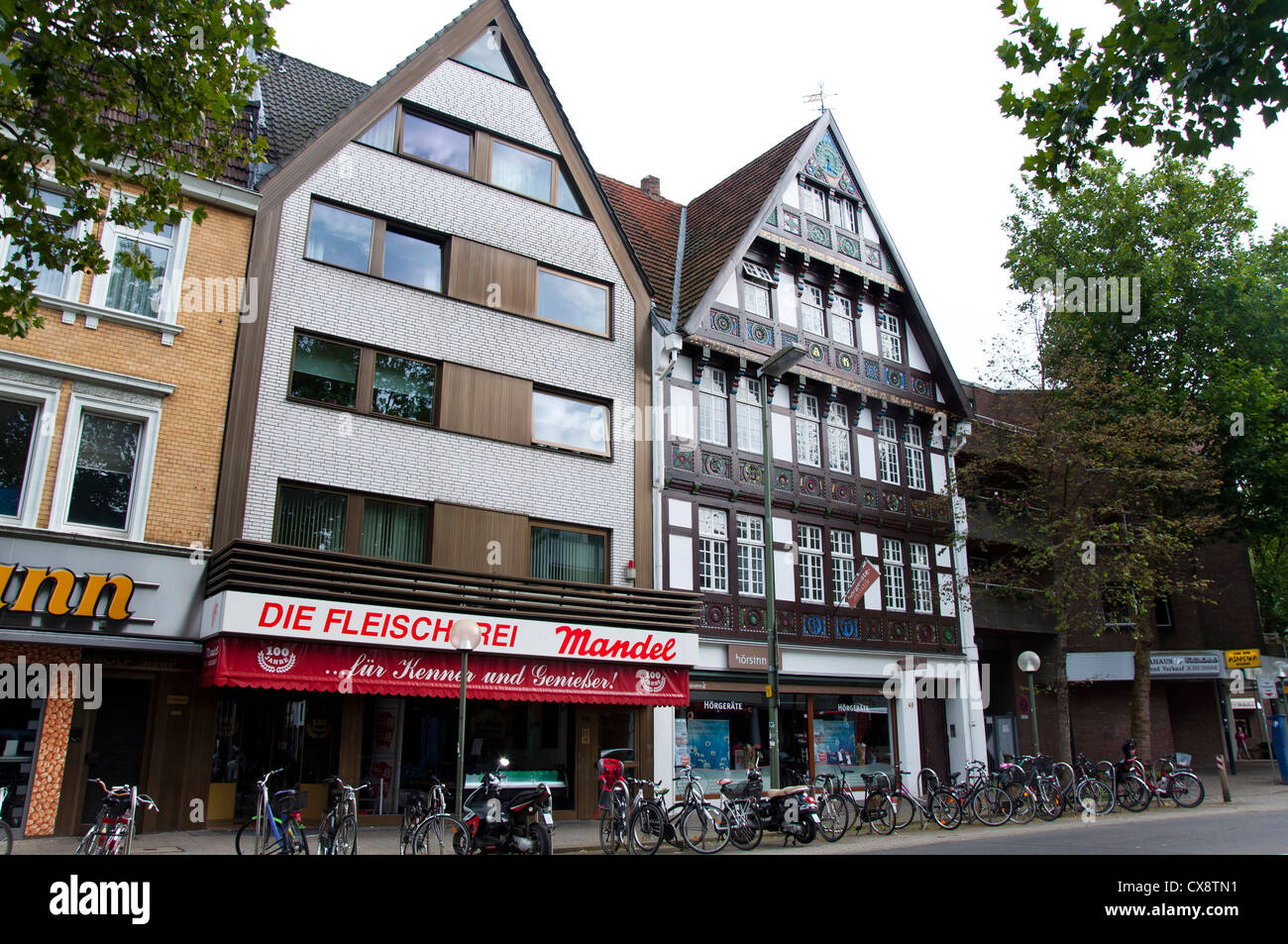 Medieval Timbered Fachwerk House, Osnabruck, Germany - Stock Image