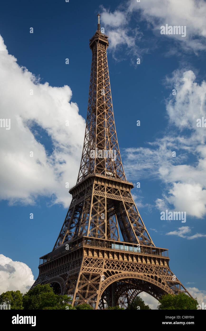 The Eiffel Tower in Paris - Stock Image