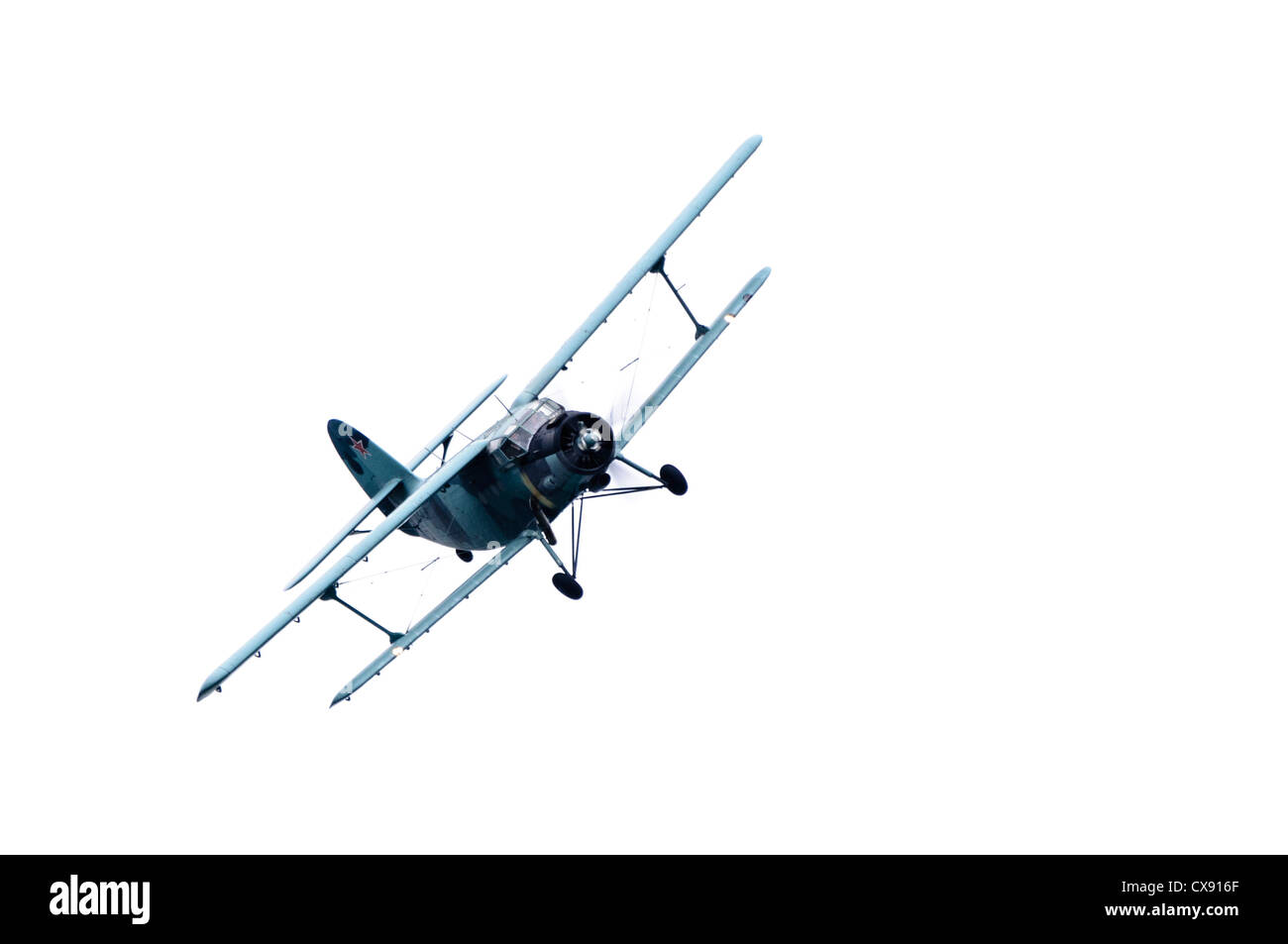 Russian Antanov AN2 biplane (LY-AUP) - Stock Image