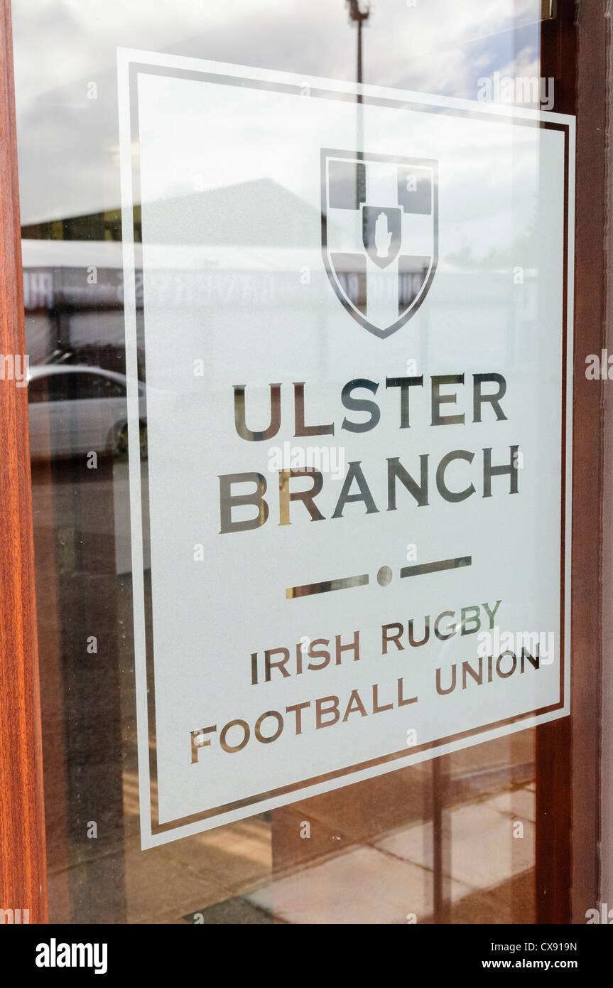 Ulster Branch of the Irish Rugby Football Union (IRFU) - Stock Image