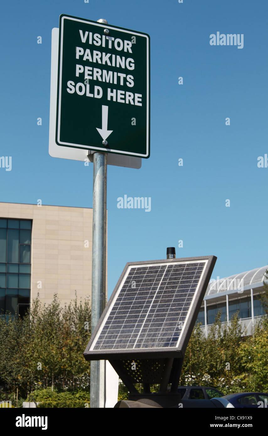 Solar-powered parking machine Solar-powered parking permit