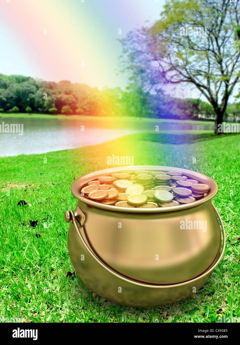 Goldtopf Am Ende Des Regenbogens