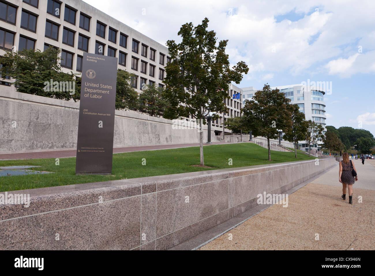 US Department of Labor headquarters - Washington, DC USA - Stock Image