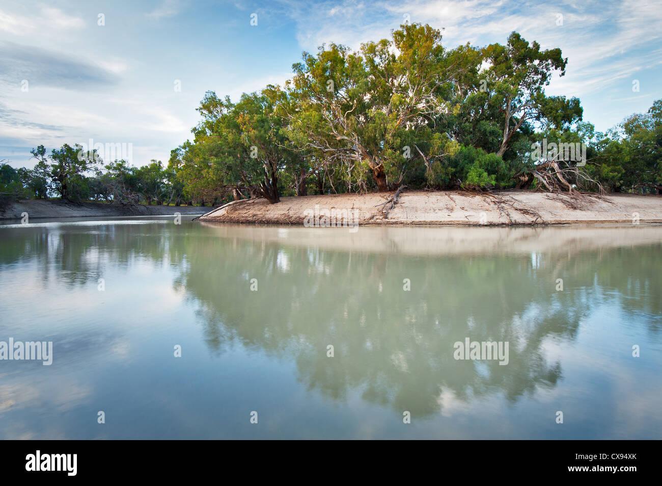 Big Bend at Darling River in Kinchega National Park. - Stock Image