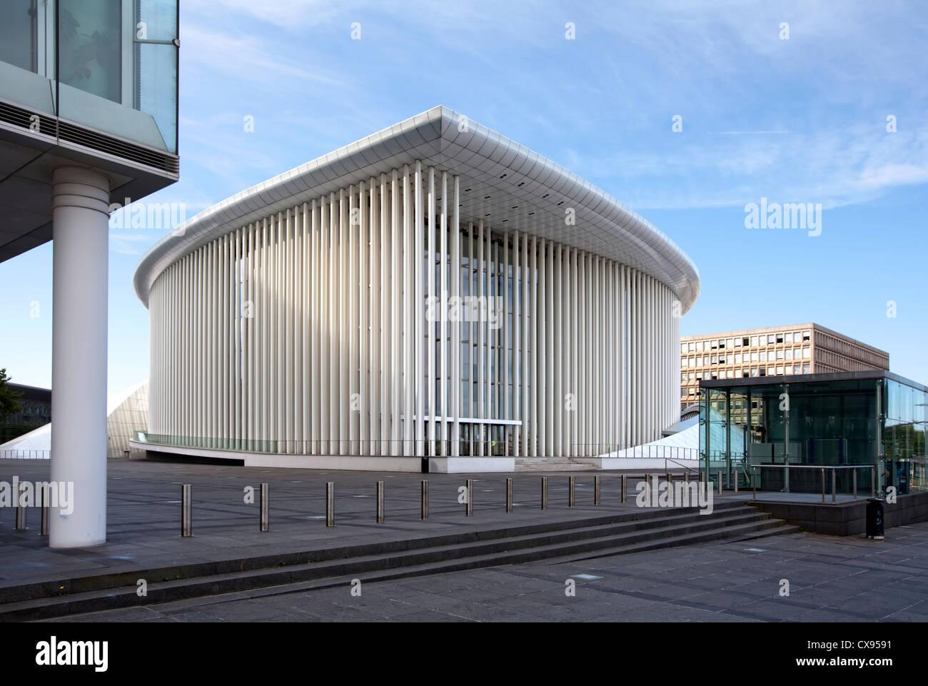 New Philharmonic Hall, concert hall of the Philharmonique du Luxembourg, Place de l'Europe, Plateau de Kirchberg, - Stock Image