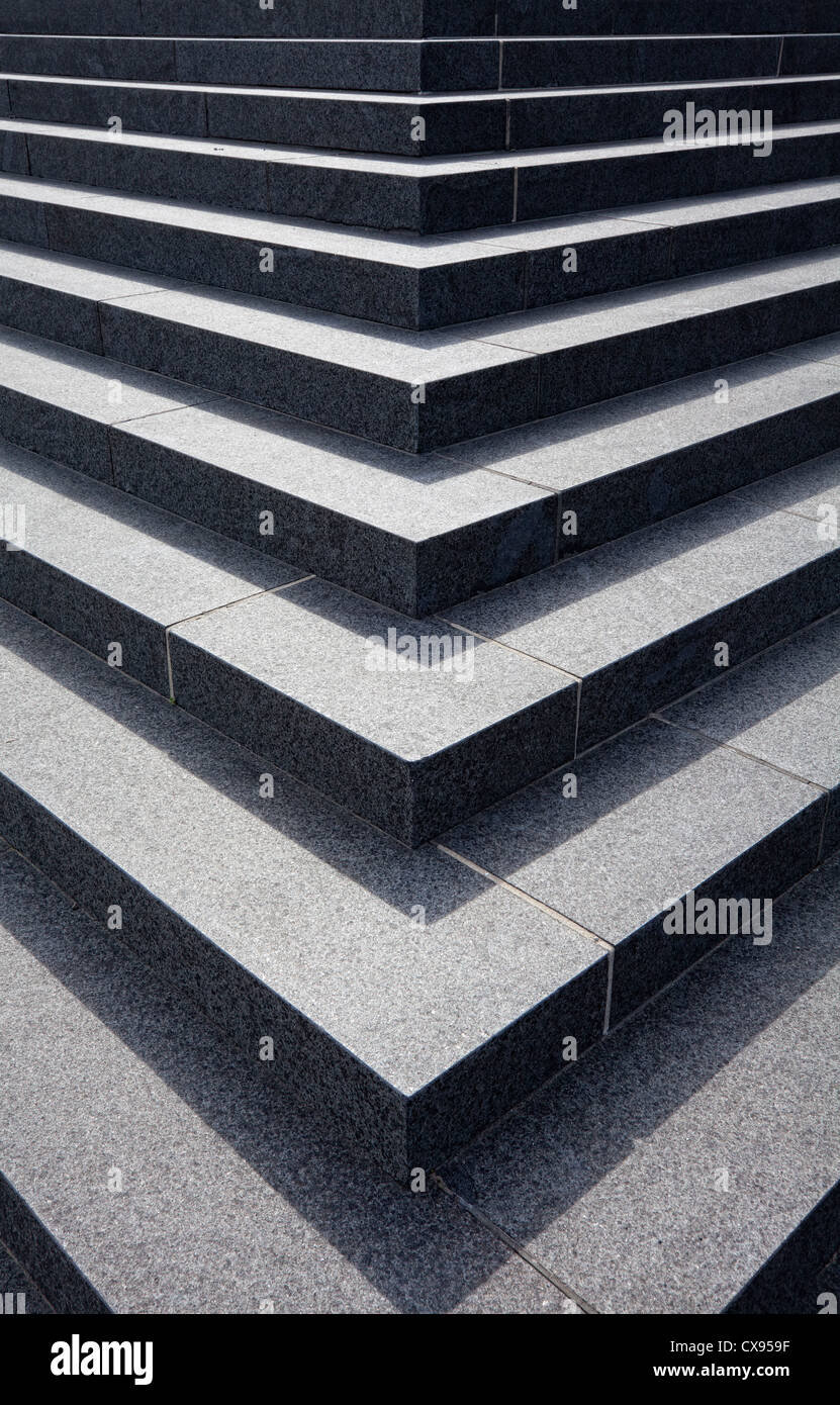 stairs of the New Philharmonic Hall, concert hall of the Philharmonique du Luxembourg, Place de l'Europe, Plateau - Stock Image
