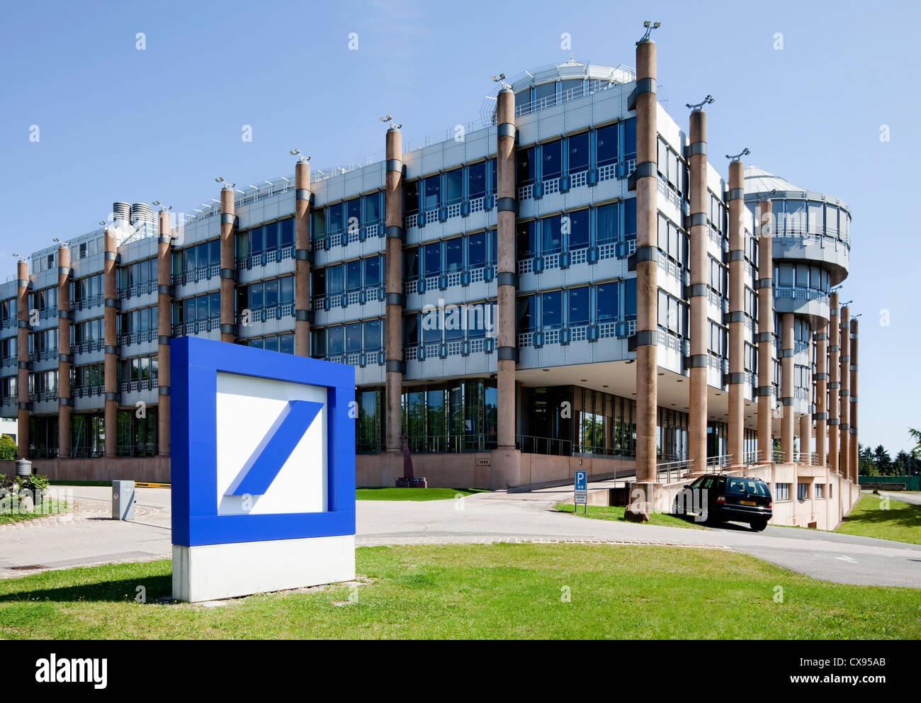 Deutsche Bank building, Kirchberg district, city of Luxembourg, Europe - Stock Image