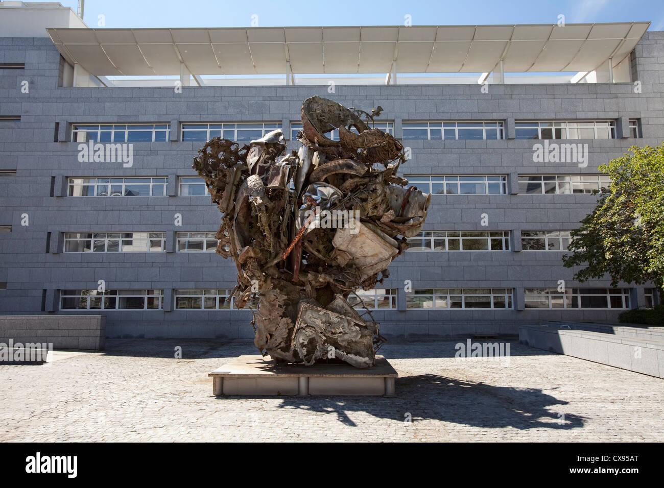 UniCredit International Bank building, Kirchberg district, Luxembourg, Europe, Sarreguemines von Frank Stella Stock Photo