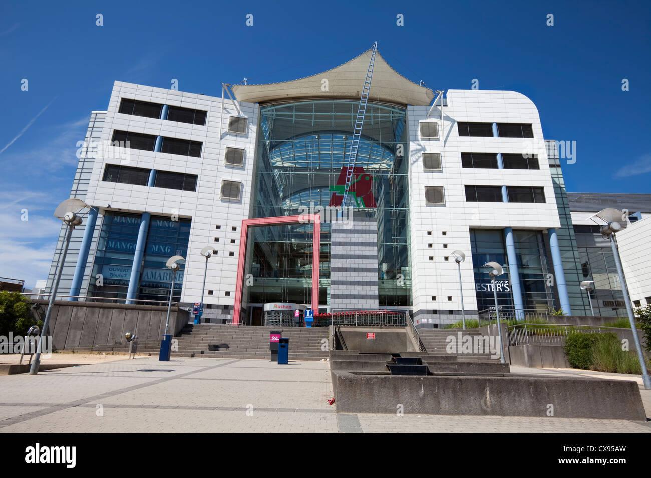 the Centre Auchan, Shopping Centre, Plateau de Kirchberg, Luxemburg, Europe - Stock Image