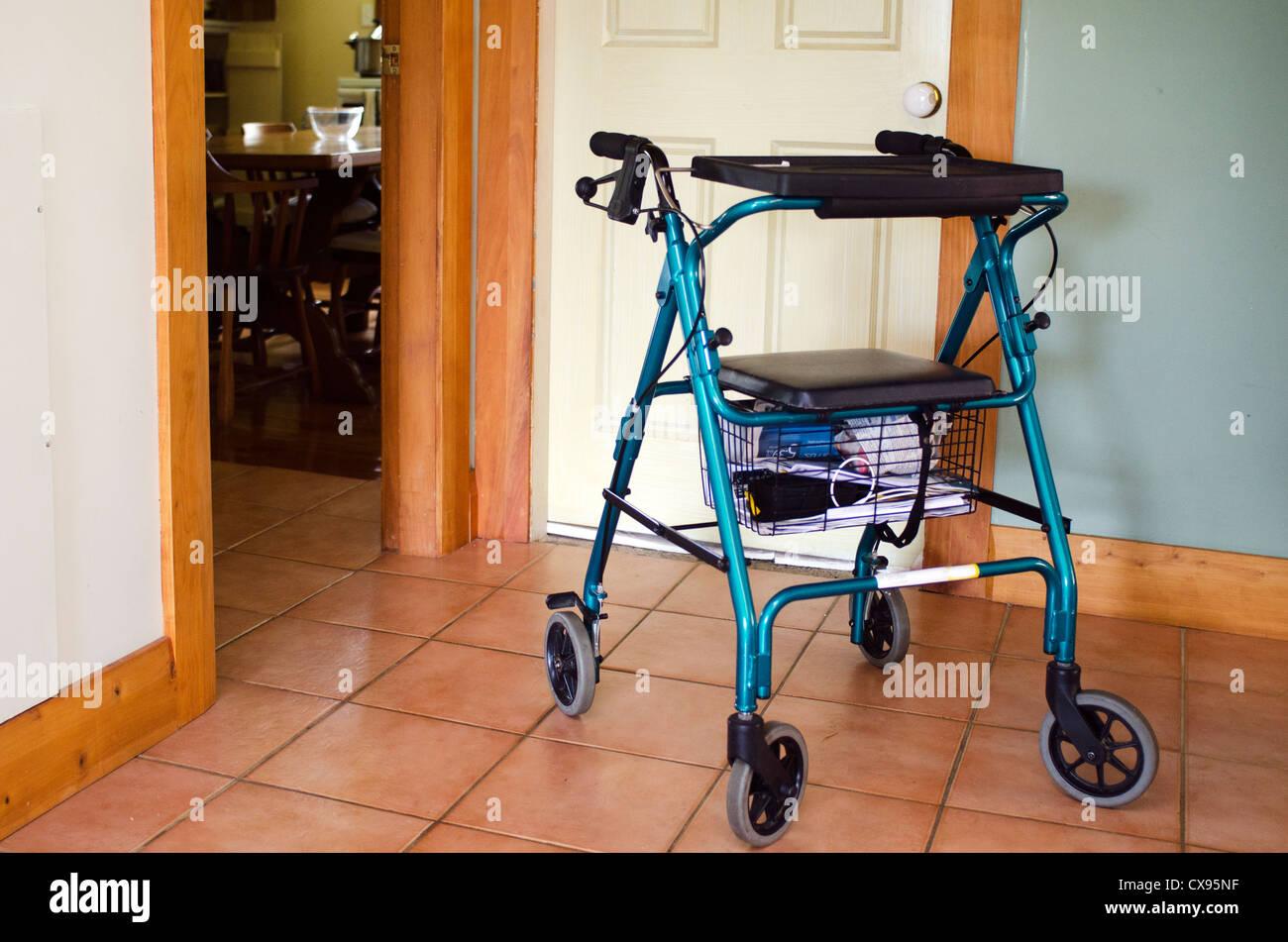 A walker (walking frame) disabled elderly people house Stock Photo ...