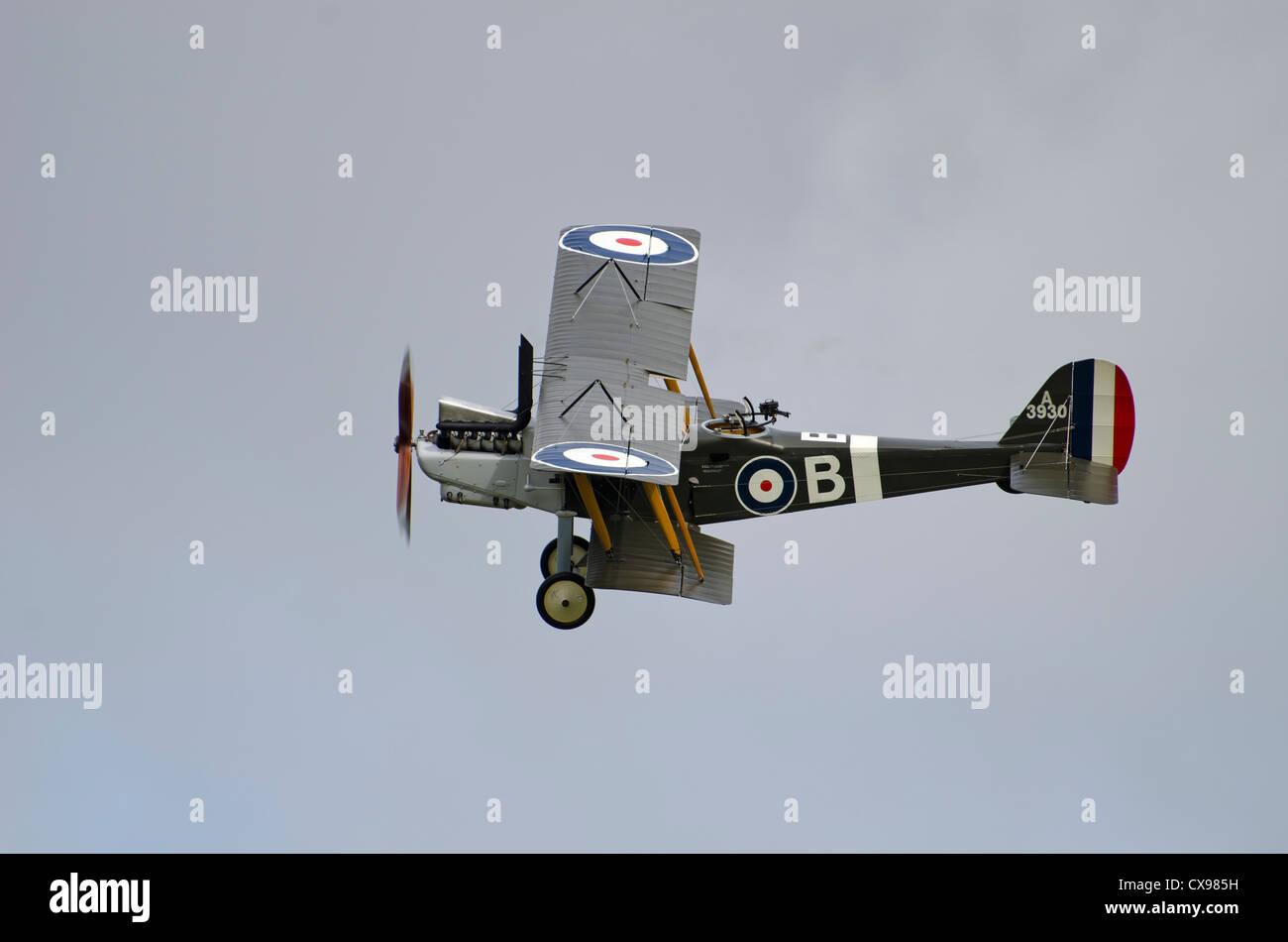 RE8 first world war bi-plane for hendon museum london - Stock Image