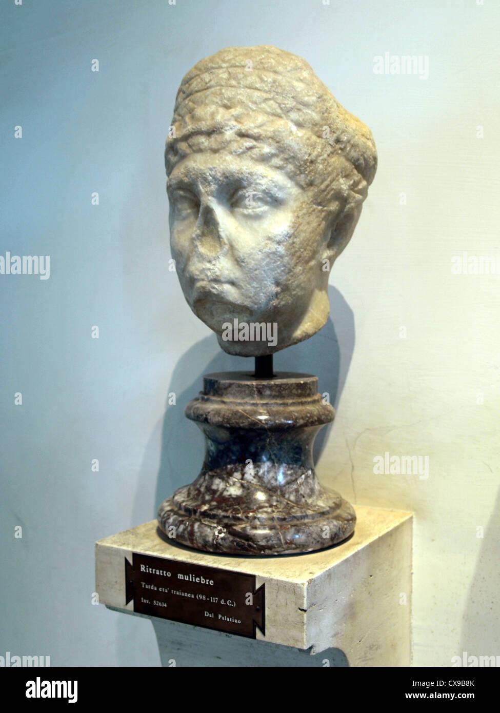 Antiquarium del Palatino, Ritratto muliebre other. - Stock Image