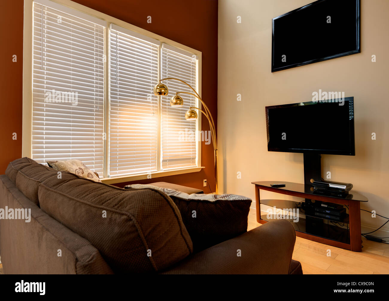 Den in a home interior - Stock Image