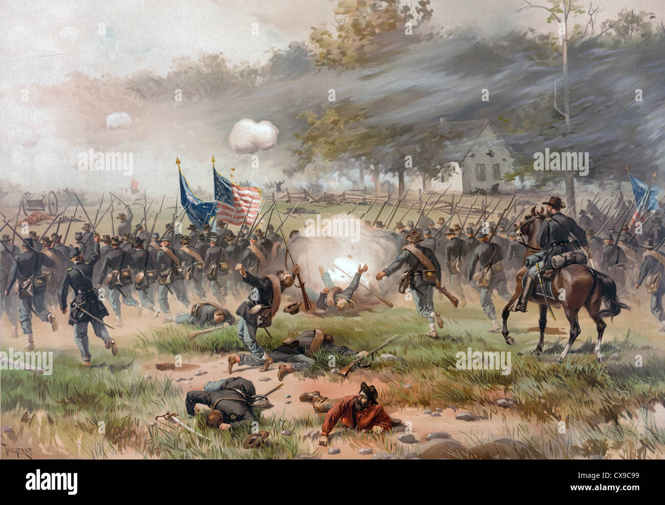 Battle of Antietam also known as the Battle of Sharpsburg, American Civil War - Stock Image