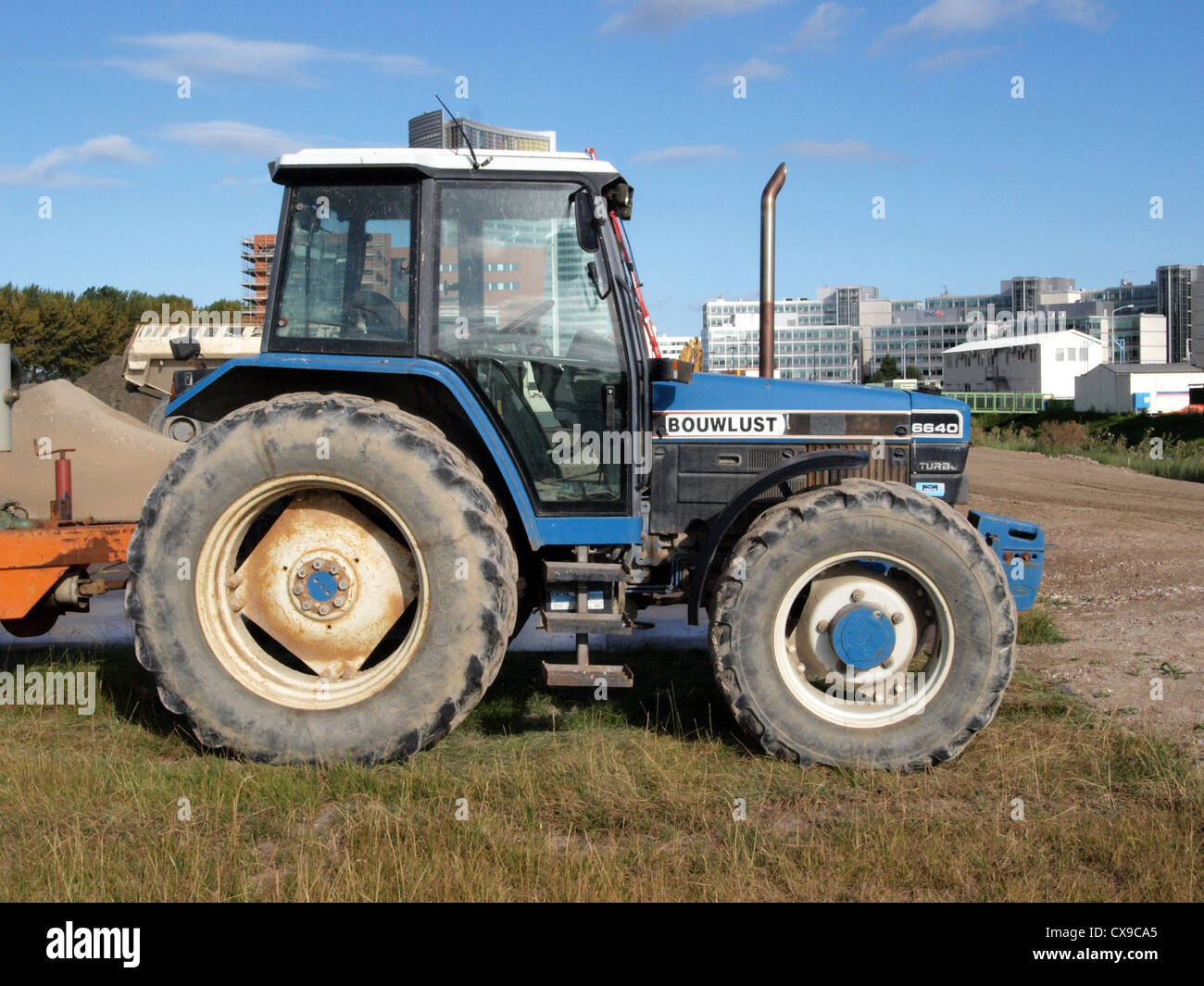 tractor New holland 6640 - Stock Image