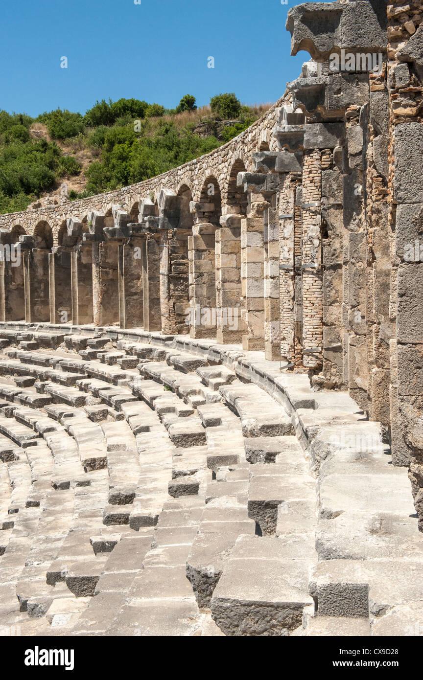 Aspendos Roman Theatre, Antalya province, Turkey - Stock Image