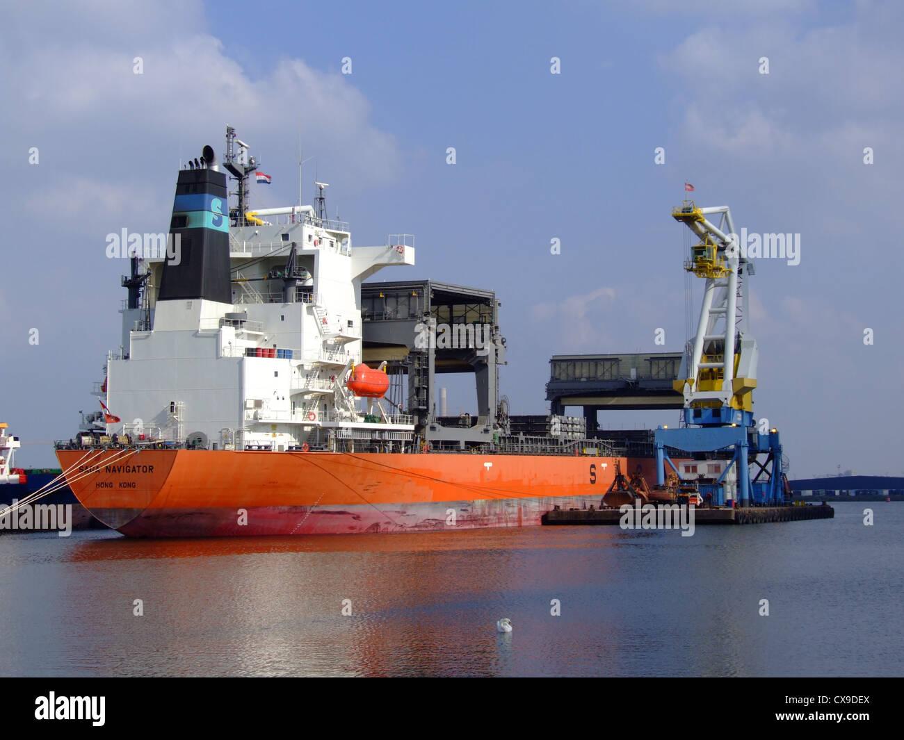 SAGA NAVIGATOR - IMO 9371062 - Callsign VRDA4, Port of Amsterdan, Holland - Stock Image