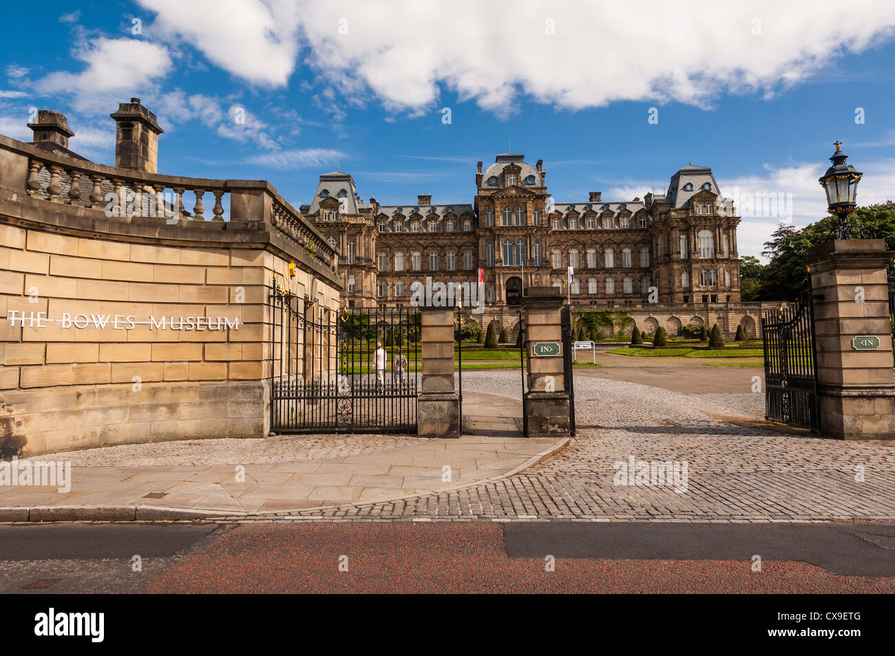The Bowes Museum in Barnard Castle , County Durham , England , Britain , Uk - Stock Image