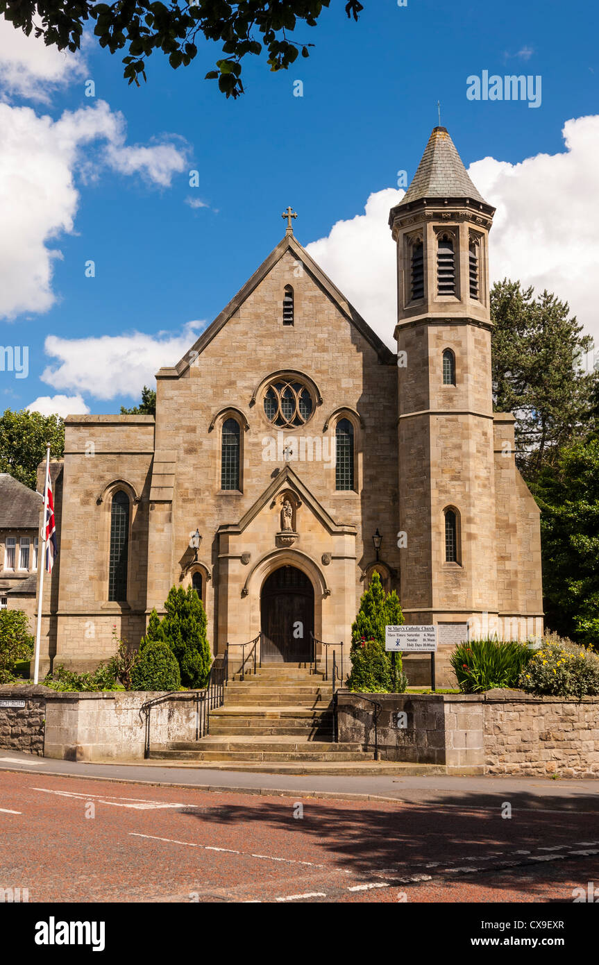 St. Mary's Catholic Church in Barnard Castle , County Durham , England , Britain , Uk - Stock Image