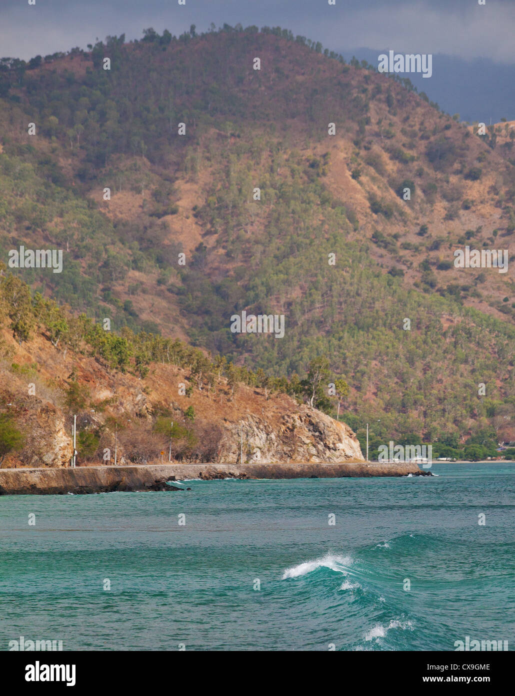 Coast and shore of Dili, East Timor - Stock Image