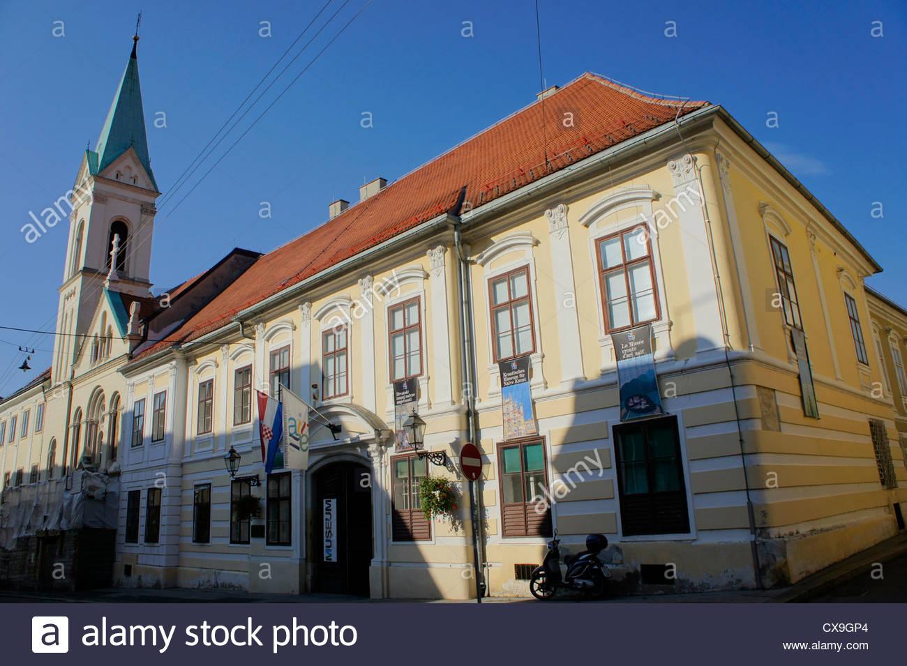 Croatian Museum of Naive Art,upper town(Gradec),Zagreb,Croatia - Stock Image