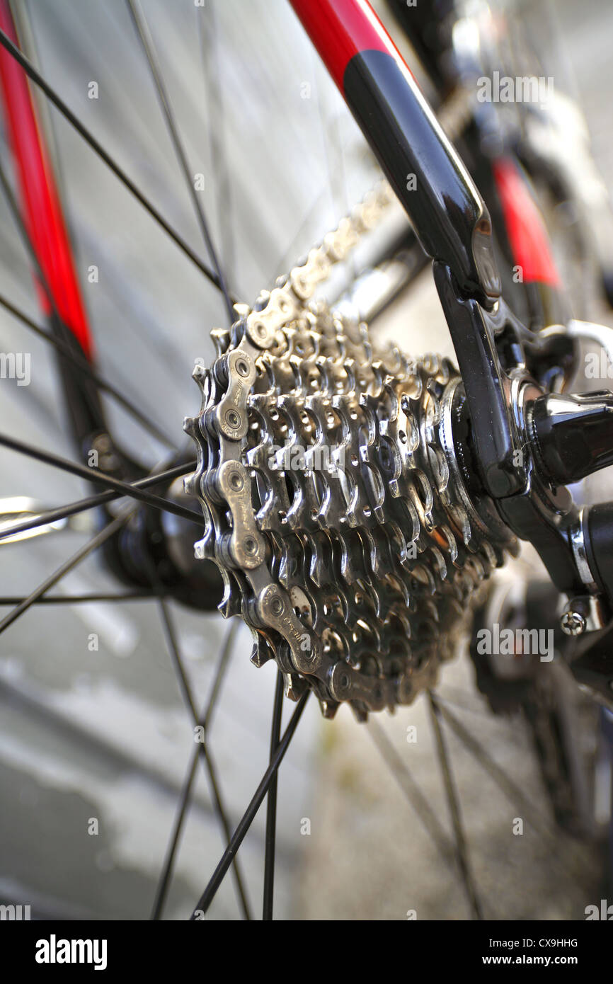 10 speed bicycle cassette - Stock Image