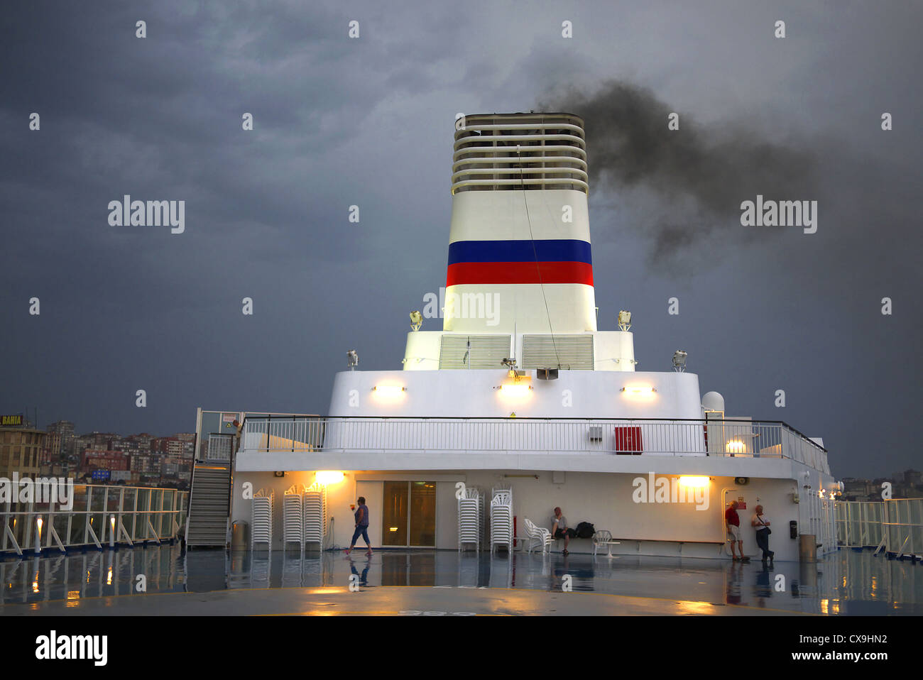 Brittany Ferries' Pont-Aven in Santander, Spain. - Stock Image