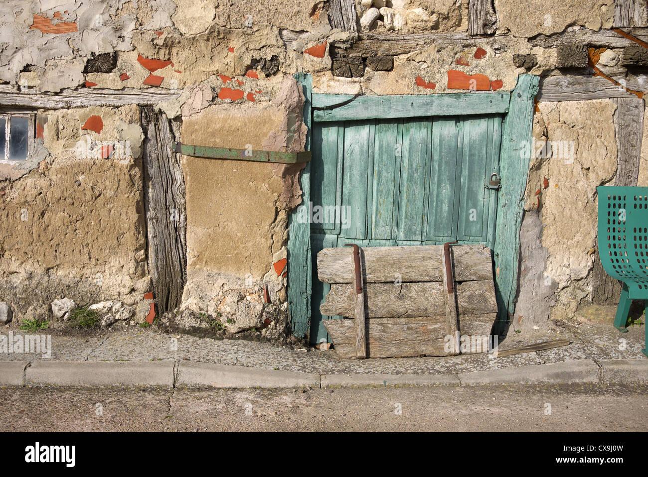 Old wooden doors, Spain. Stock Photo