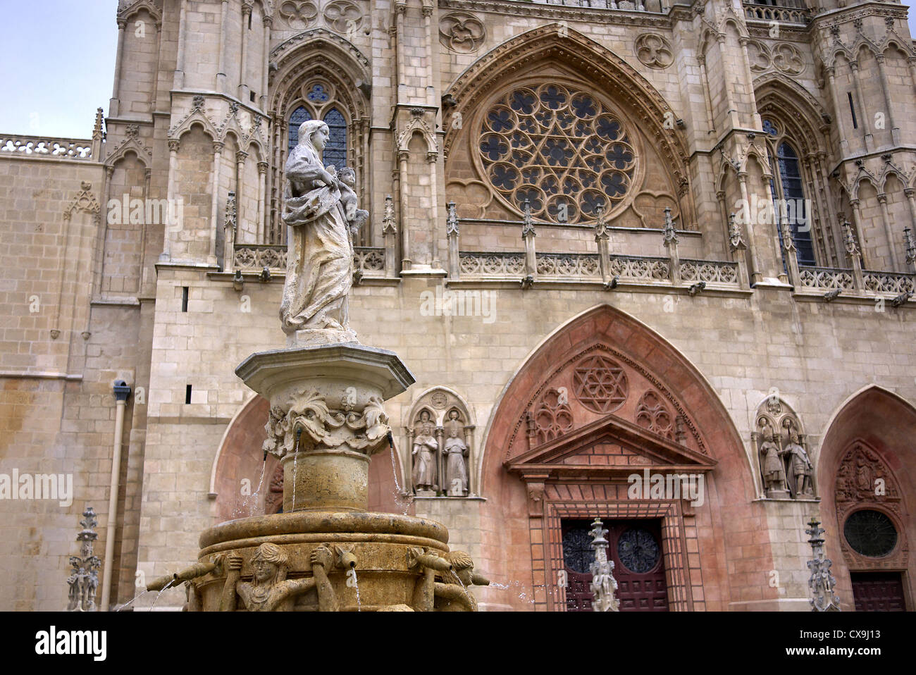 The Cathedral in Burgos, Spain. - Stock Image
