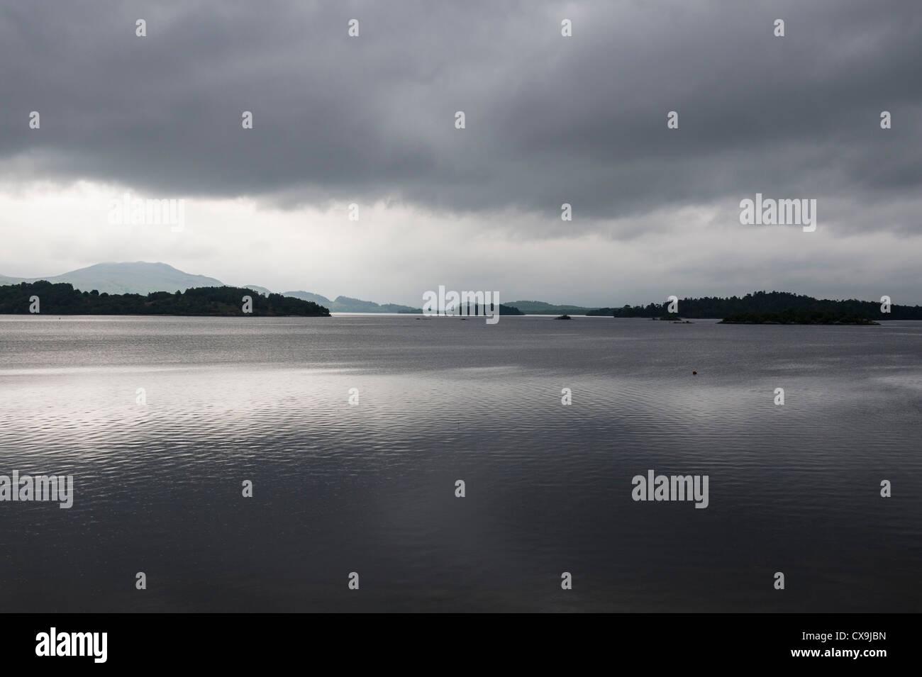 Loch Lomond at Luss. - Stock Image