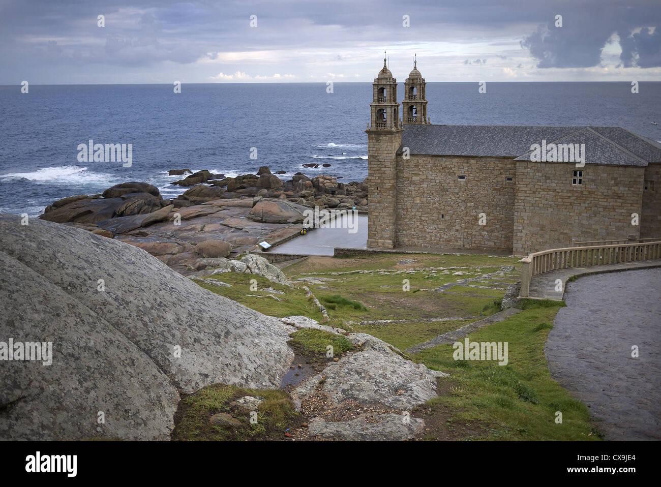 Santuario de la Virxen de Barca in Muxia, Spain. - Stock Image