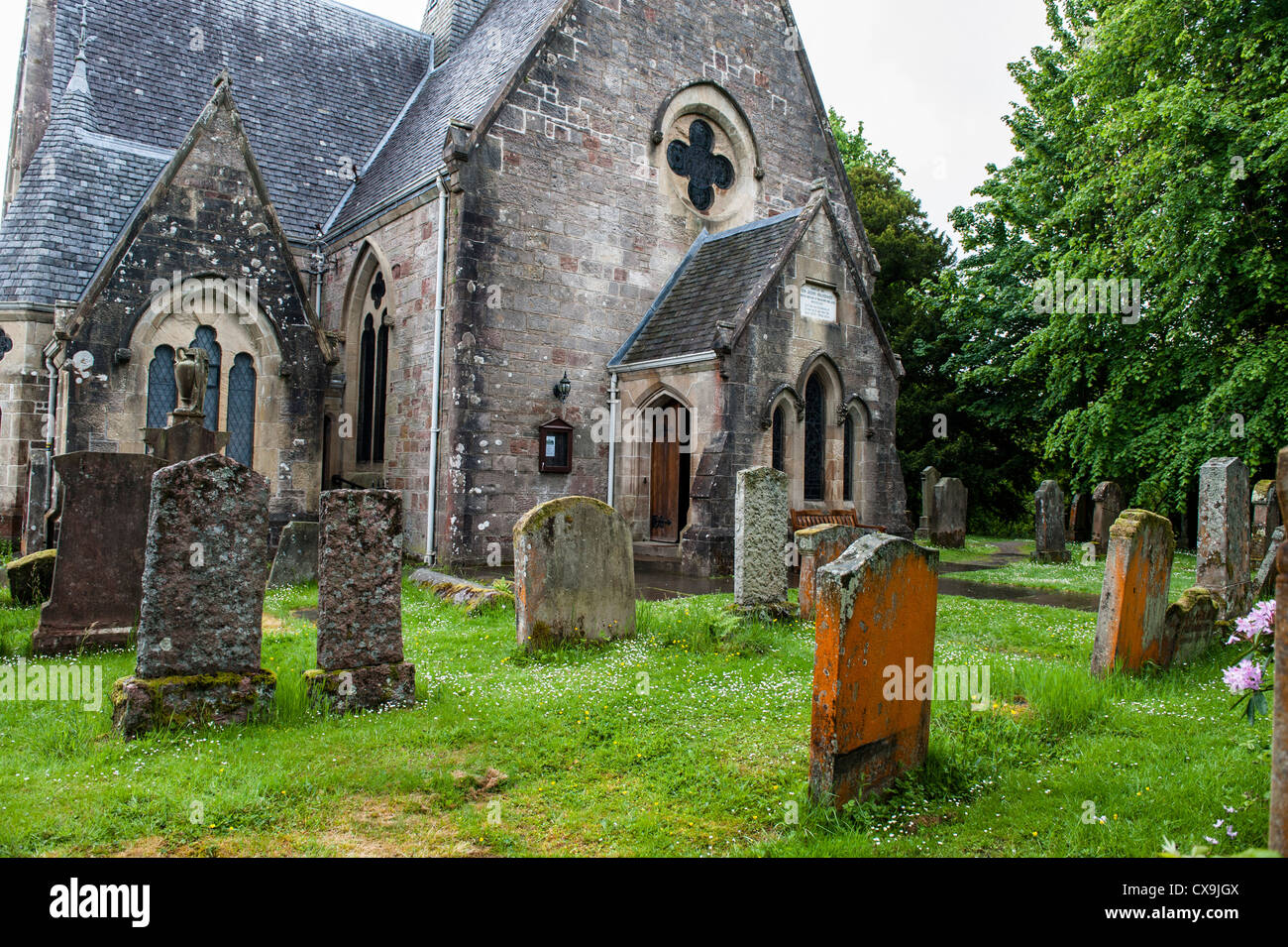 Village of Luss, on Loch Lomond, renovated and repaired - Stock Image