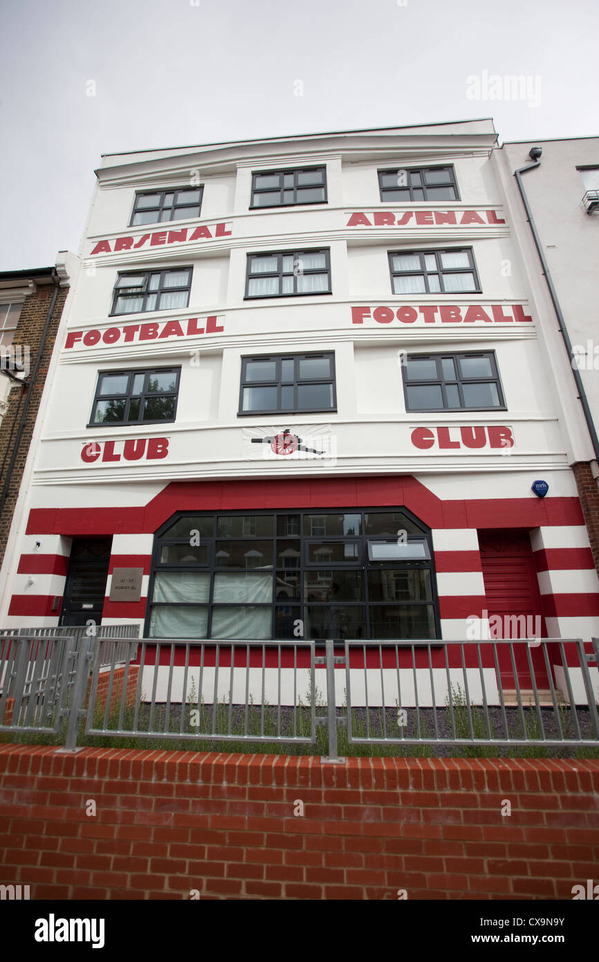 The old West Stand entrance to Arsenal's Highbury Football Ground, Highbury Hill, North London, England, UK - Stock Image