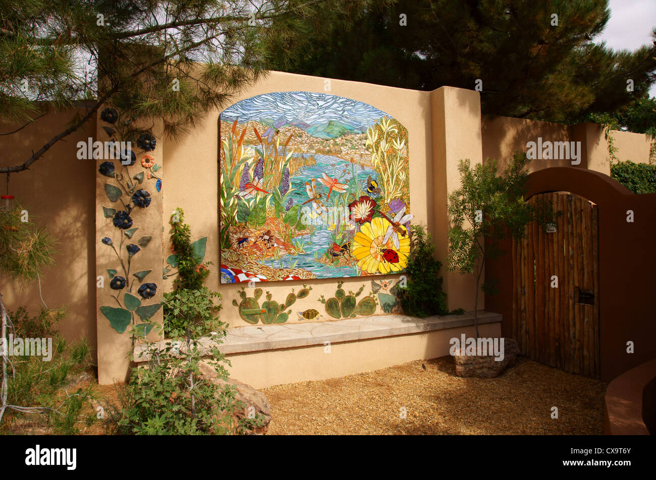 flower mural botanical garden park albuquerque alb alq new mexico nm ...