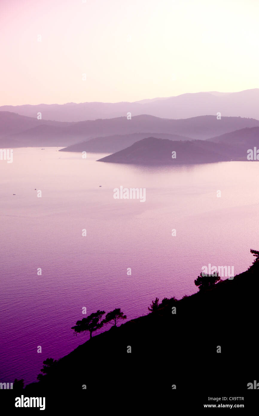greek island of lesvos - Stock Image