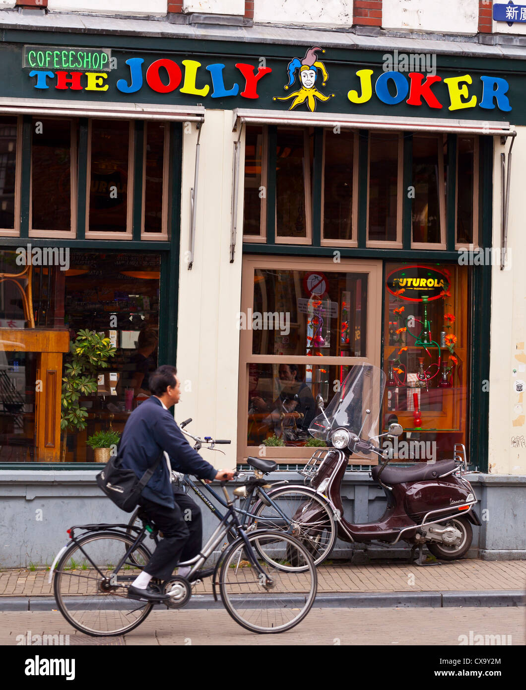 Amsterdam: Jolly Joker Coffee Shop - Amsterdam, Netherlands, Europe - Stock Image
