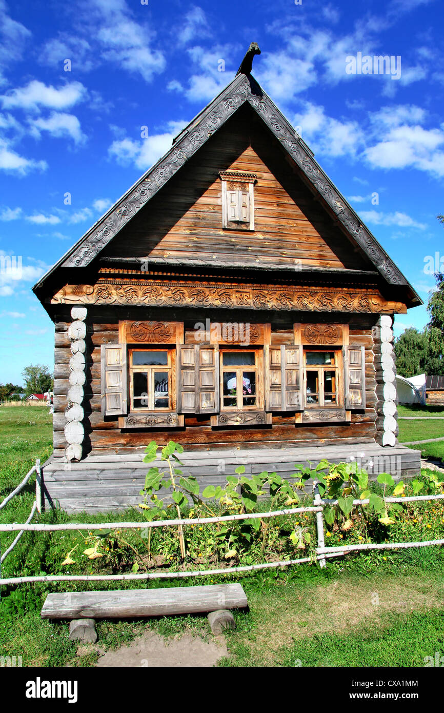Log cabin - Stock Image