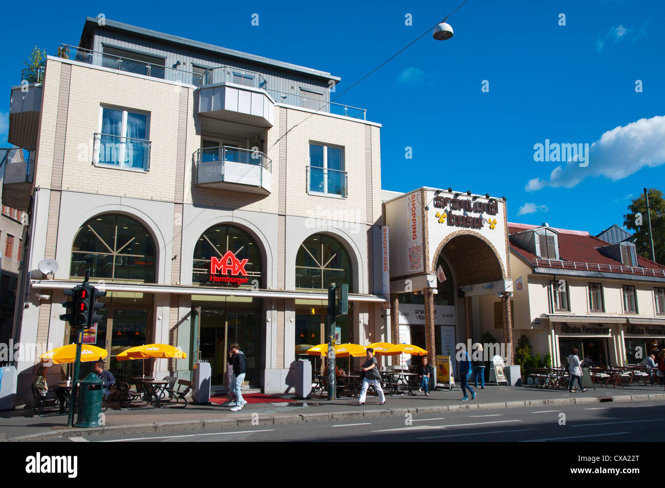 Gronlandsleiret street Gronland district central Oslo Norway Europe - Stock Image