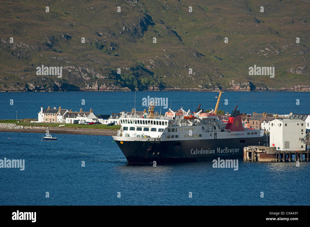 Ullapool, fishing and tourist ferry port on Loch Broom, Wester Ross Highland Region Scotland.   SCO 8532 Stock Photo