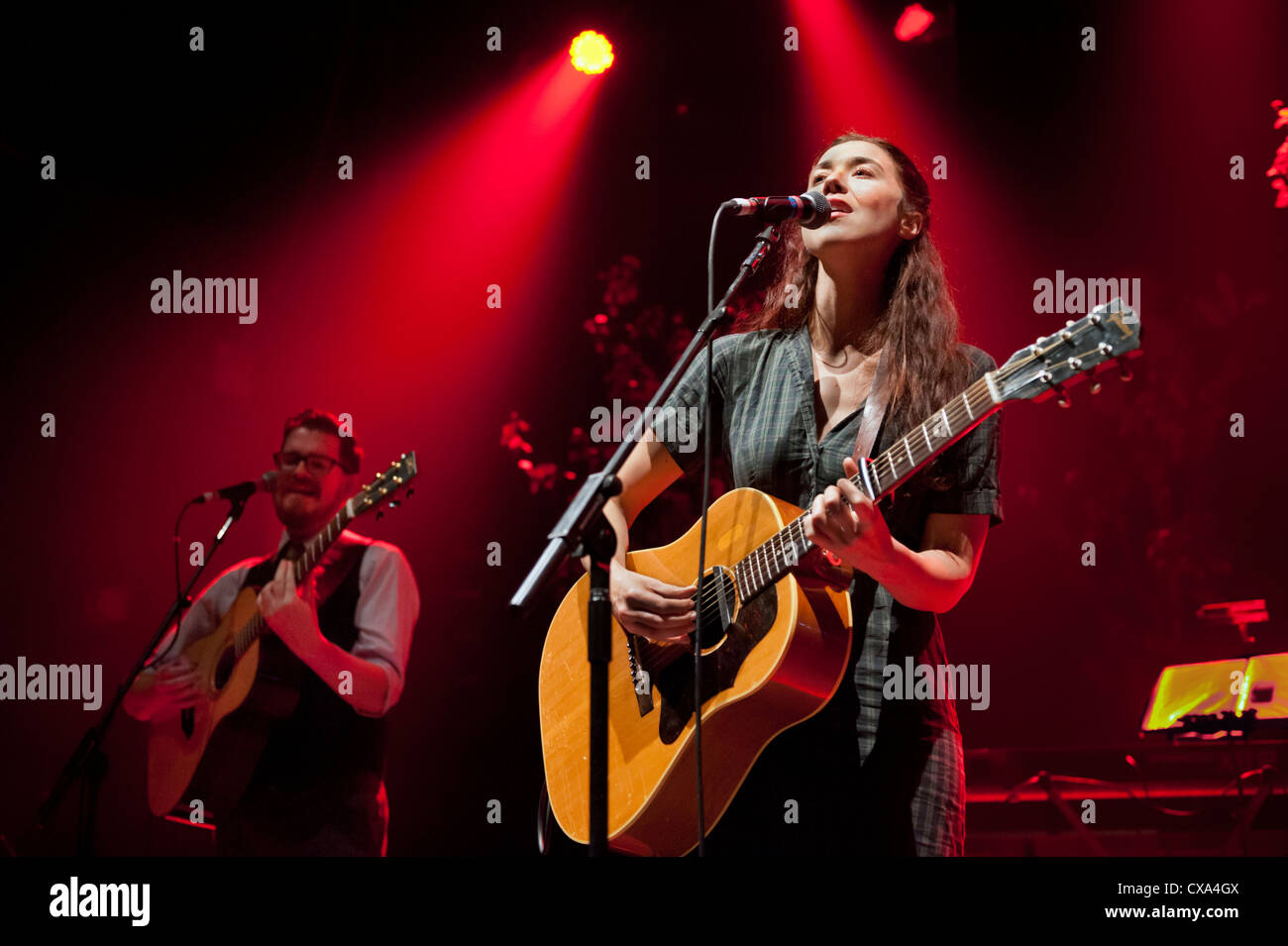 Lisa Hannigan in concert at Birmingham HMV Institute, 22 September 2012, supporting Richard Hawley - Stock Image