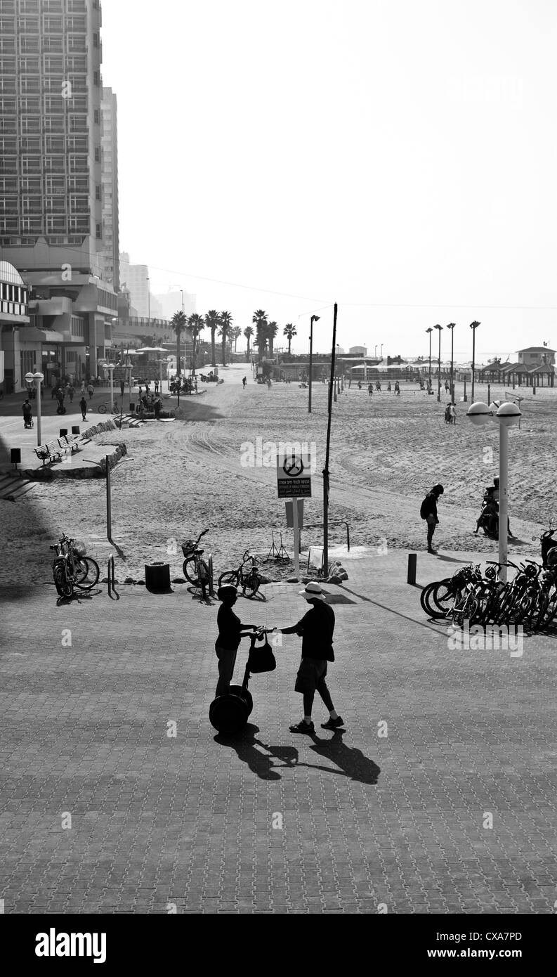 Tel Aviv beachfront - Stock Image