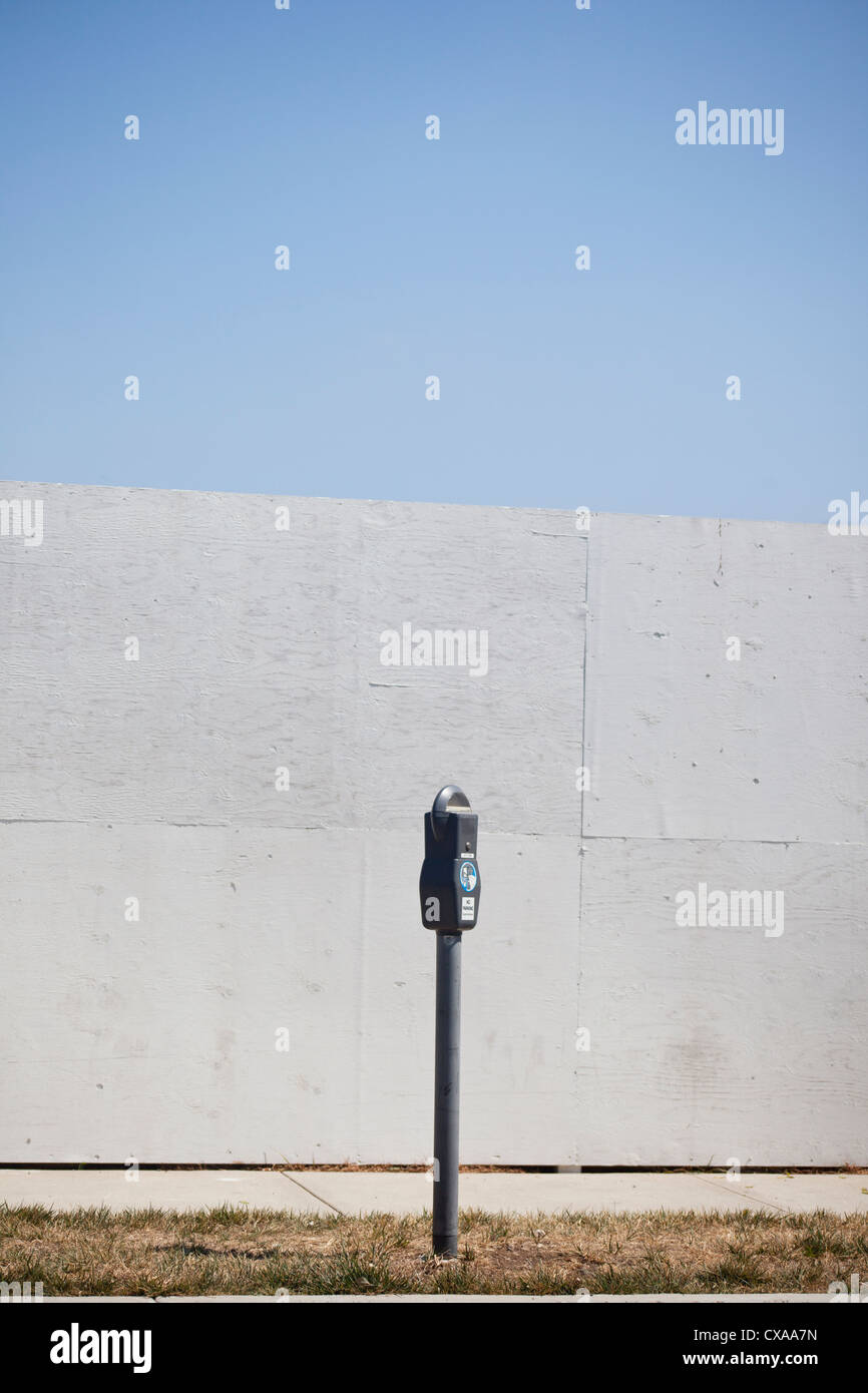 lone parking meter - Stock Image