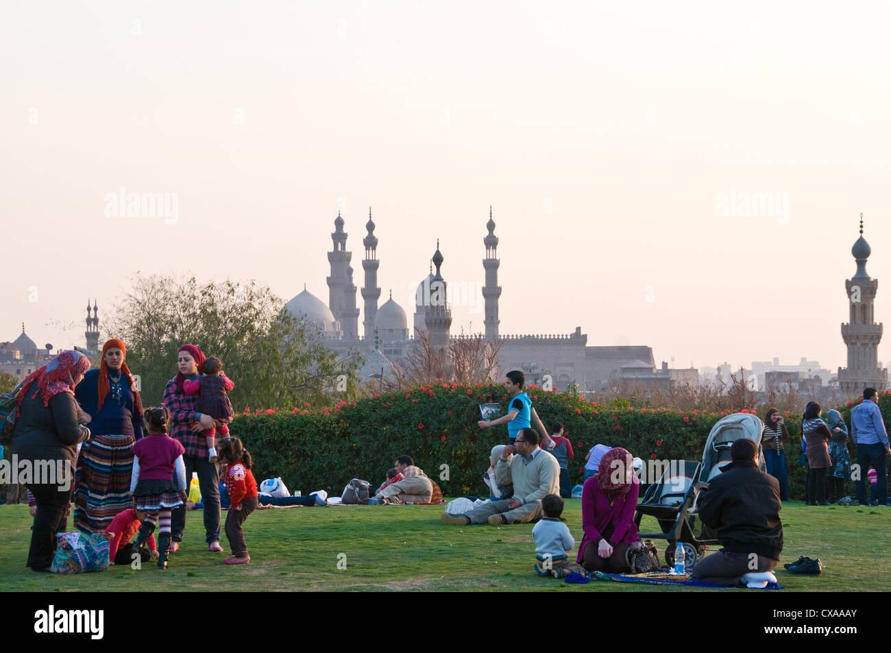 Al Azhar Park Cairo Egypt - Stock Image