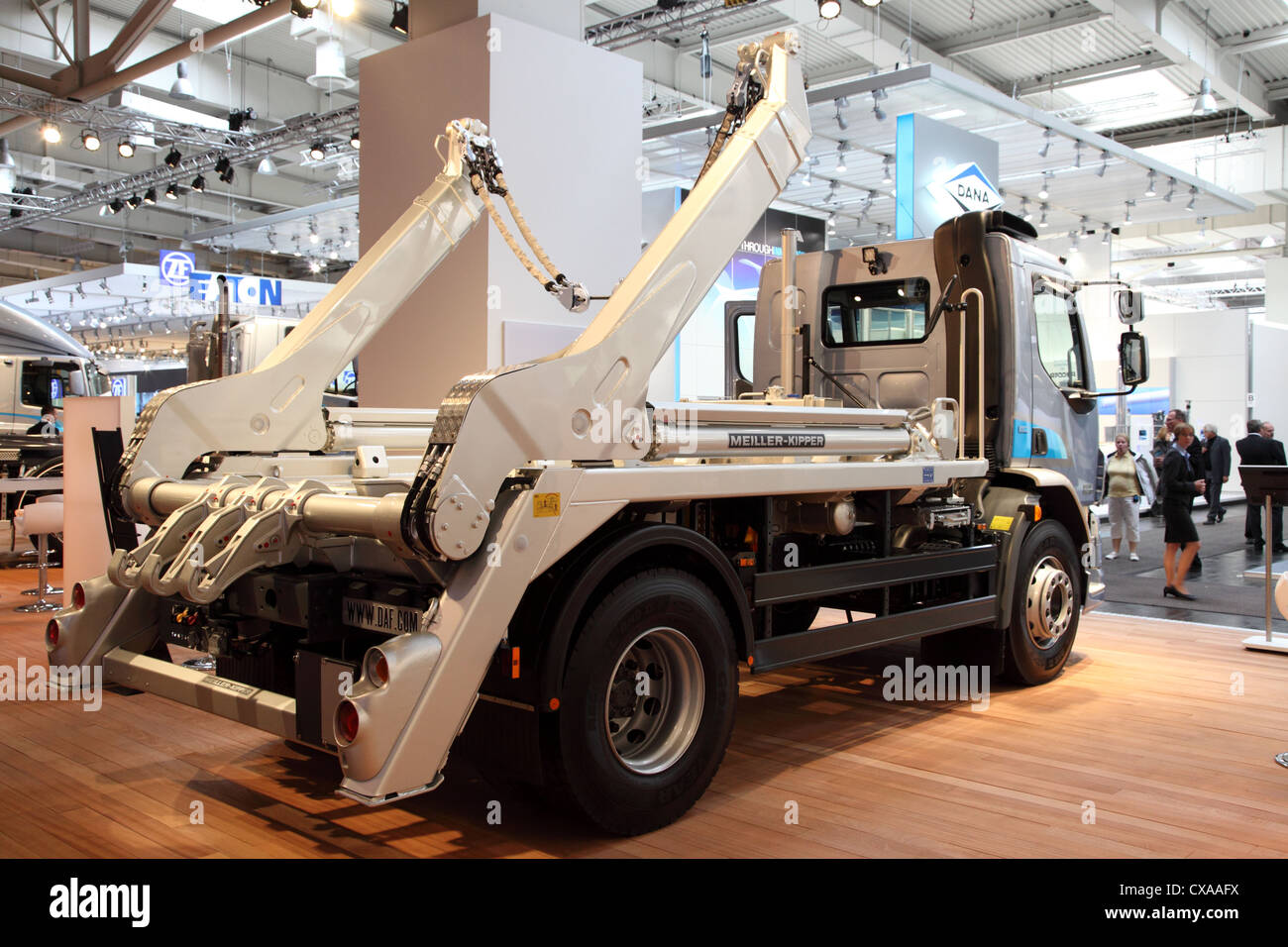 Garbage Collection Truck from Meiler-Kipper at the International Motor Show - Stock Image