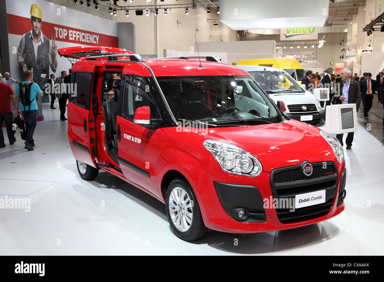 101ef2fc4a New Fiat Doblo Van at the International Motor Show for Commercial Vehicles  - Stock Image
