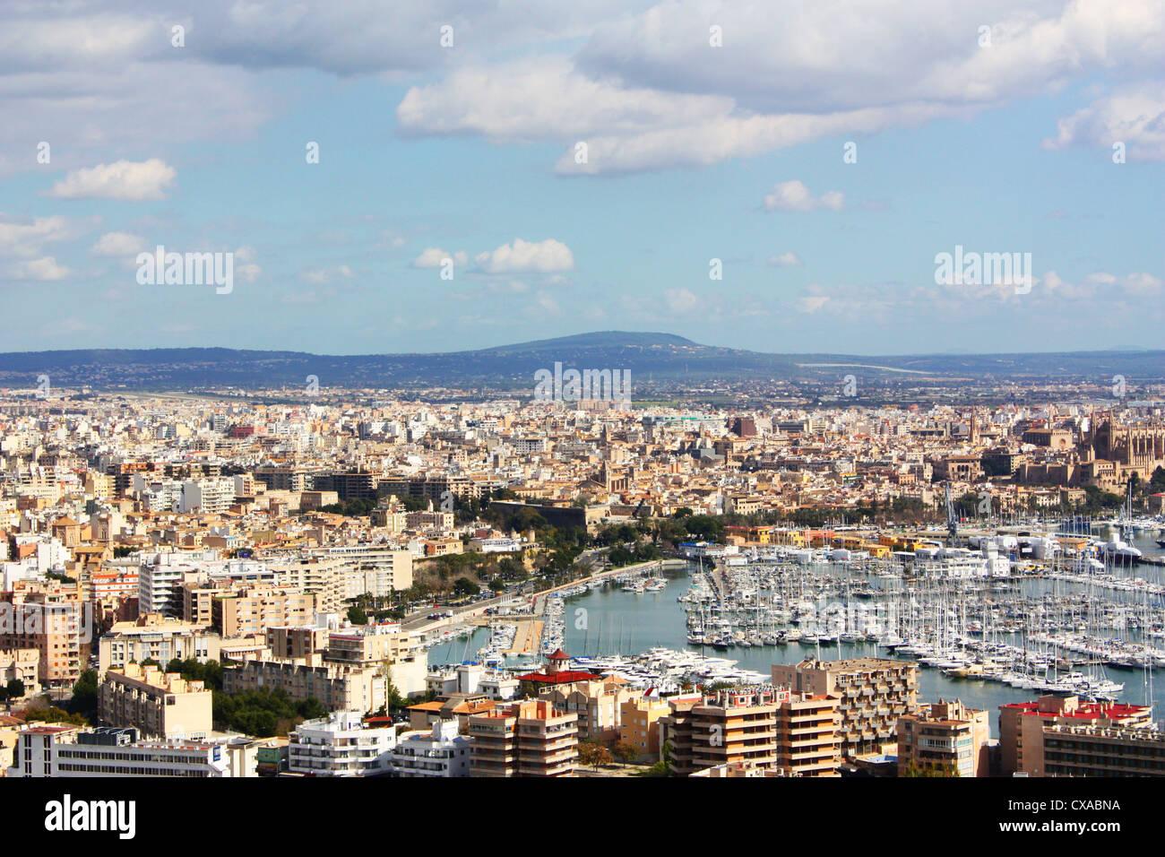 City view of Palma De Mallorca, Spain Stock Photo