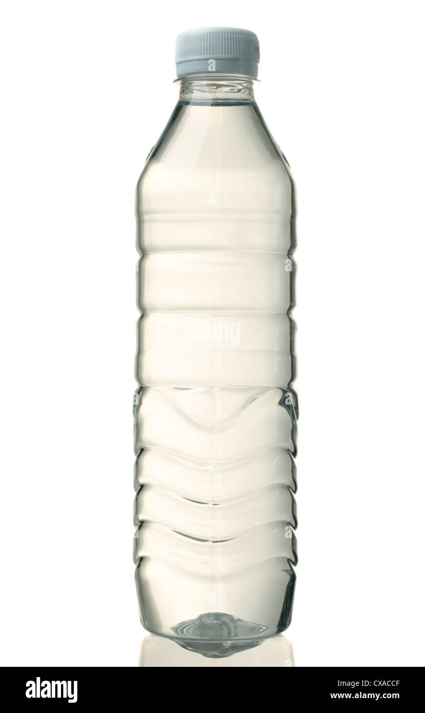 Water bottle, isolated on white - Stock Image