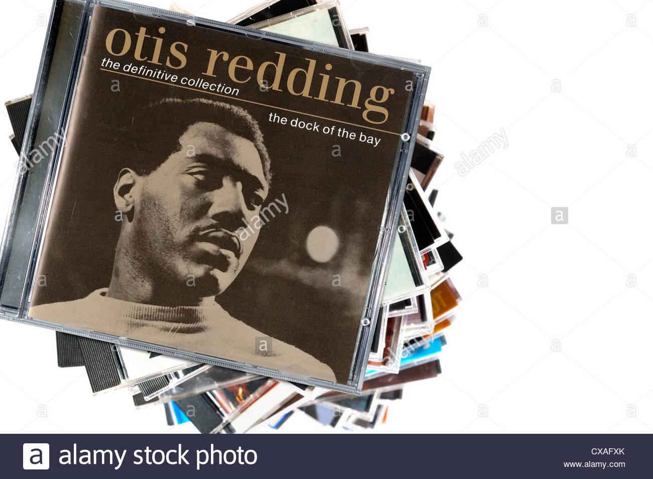 Otis Redding greatest hits Album the dock of the bay, CD cases, England - Stock Image