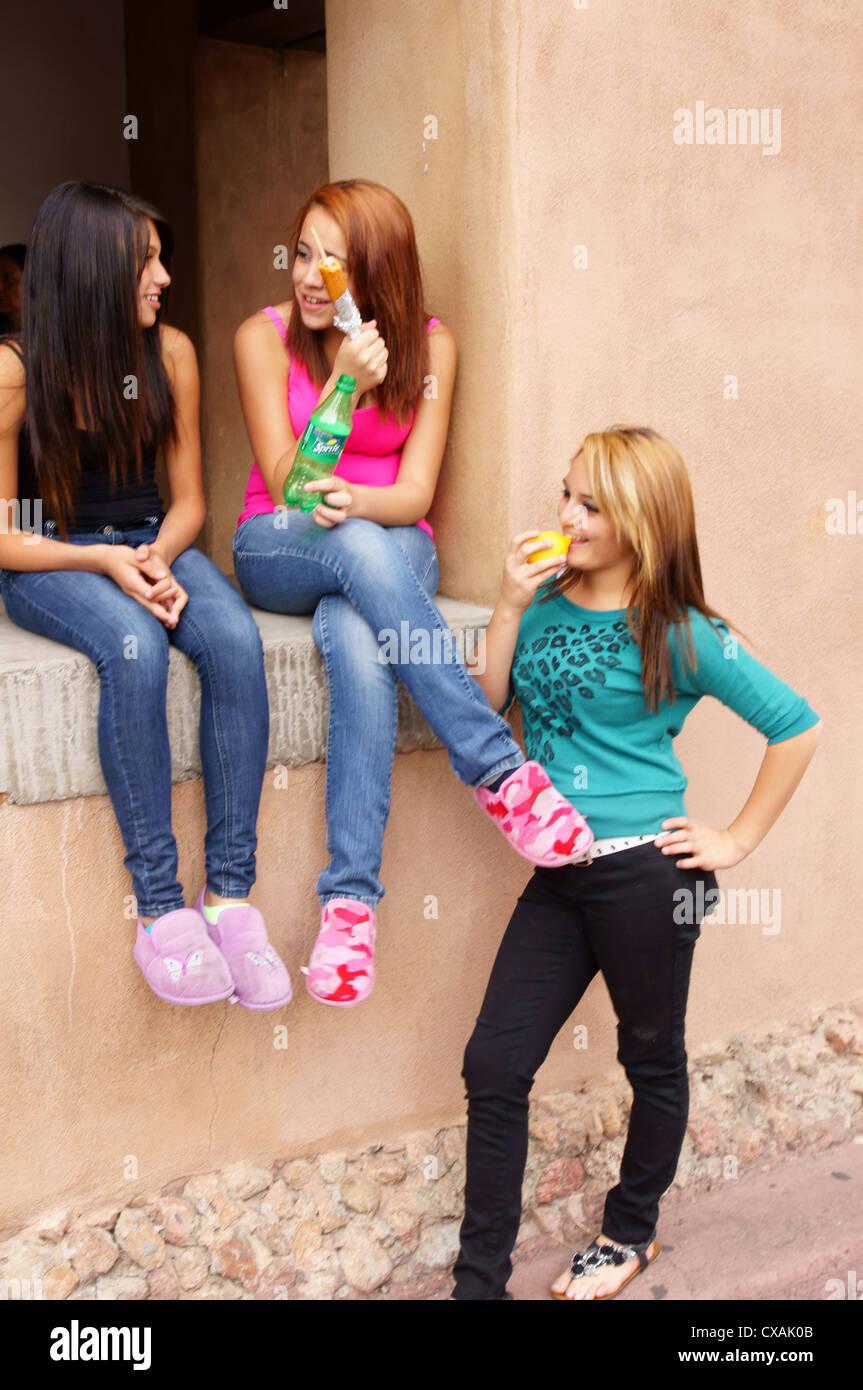candid girls walking